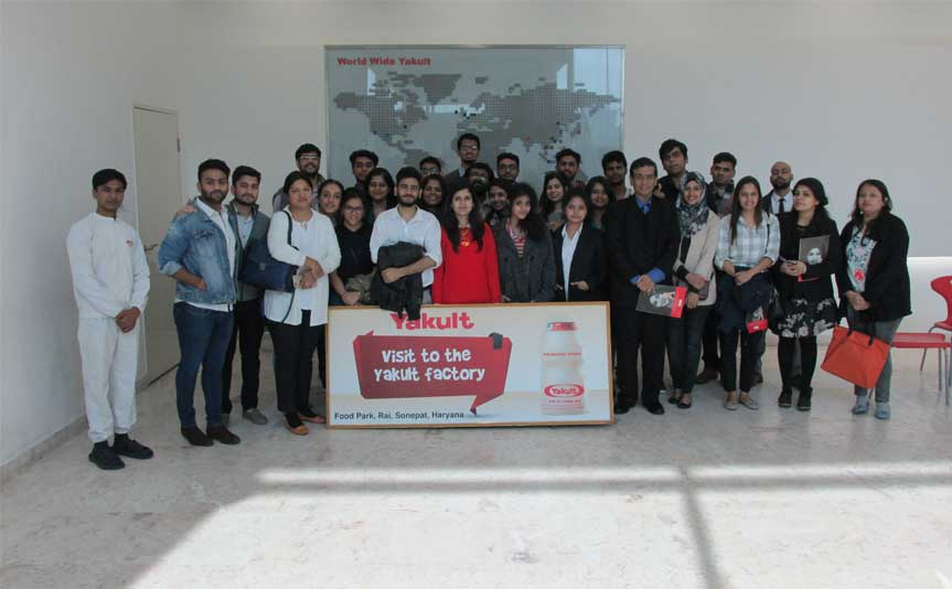 Industry visit to Yakult factory, Sonepat